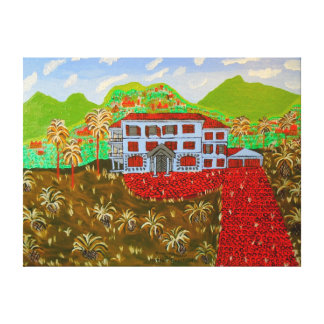 """24""""x18"""" Size Oil Painting Of """"House Of Grandeur"""" Stretched Canvas Print"""