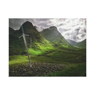"24"" x 18"", 1.5"", Single  glencoe by highsaltire Canvas Print"