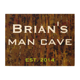 24 X 18 PERSONALIZED MAN CAVE WOOD WALL ART