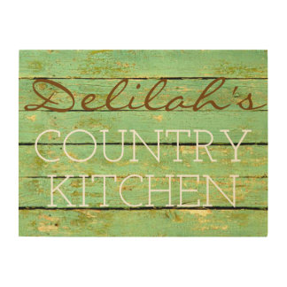 24 X 18 RUSTIC CUSTOMIZABLE KITCHEN WOOD SIGN