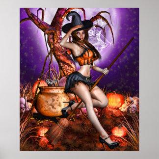 """24"""" x 20"""" Kris E. Pew ~Pumpkin Princess~ Poster"""