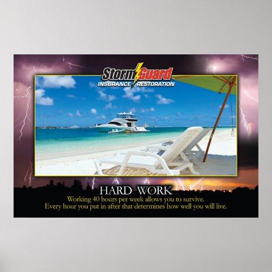"24 x 36"" Storm Guard Hard Work Motivational Poster"