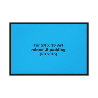 24 x 36 Thick Canvas Wrap Template Horizontal Fit