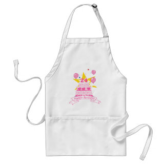 24 Year Old Birthday Cake Adult Apron