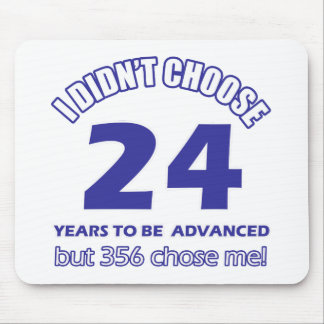24 years advancement mouse pad