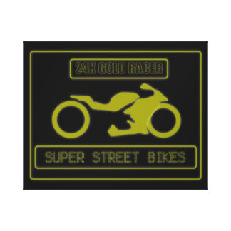 24K GOLD RACER STRETCHED CANVAS PRINT