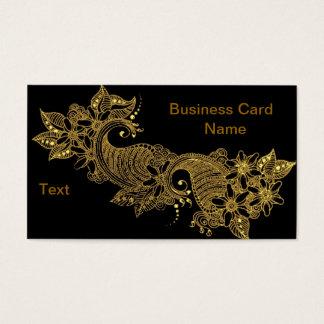 24kt-Mehndi-floral-Business Card
