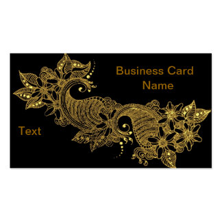 24kt-Mehndi-floral-Business Card Pack Of Standard Business Cards