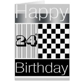 24th Birthday Greeting Card