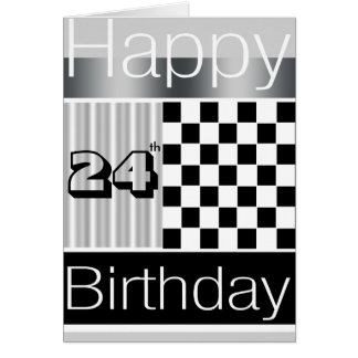 24th Birthday Greeting Card