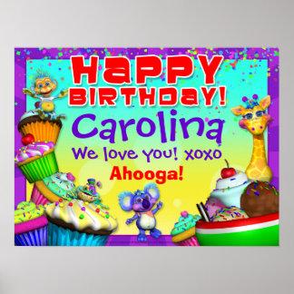 24x18 GiggleBellies Cupcake Birthday Poster