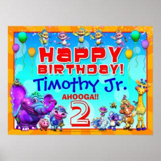 24x18 GiggleBellies Happy Birhtday Poster