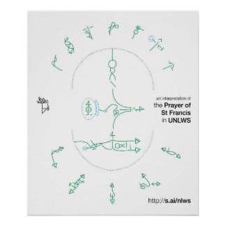 24x20 poster of the Prayer of St. Francis in UNLWS