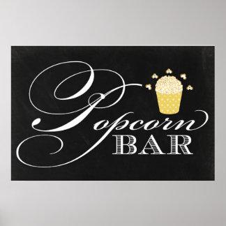 24x36 Chalkboard Popcorn Bar Sign