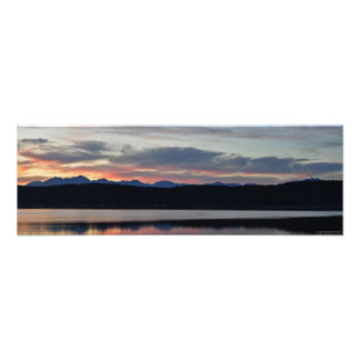 24X8 Hood Canal & the Olympic Mountains at Sunset Photograph