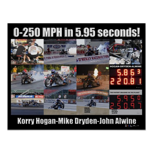 250 MPH Collage Poster