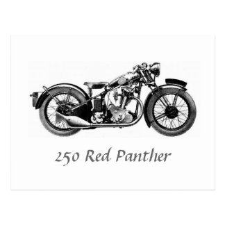 250 Red Panther Postcard