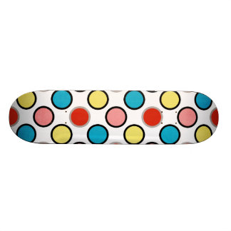 252__shellfish-paper-circles COLORFUL FUN POLKADOT Custom Skateboard