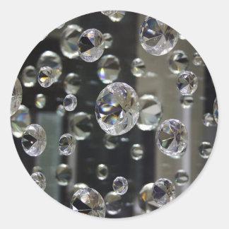 2554 Mirror Round Sticker