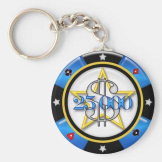 $25,000.00 Poker Casino Gambling Chip Key Ring