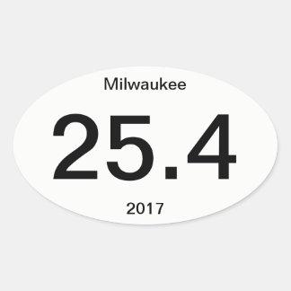 25.4 Marathon Milwaukee Oval Sticker