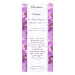 25 4x9 Wedding Program Purple Orchids on Stem