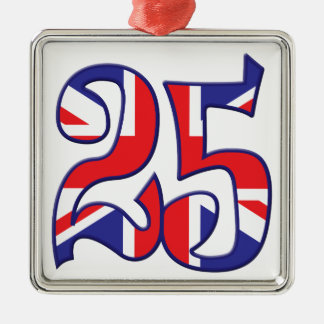25 Age UK Silver-Colored Square Decoration