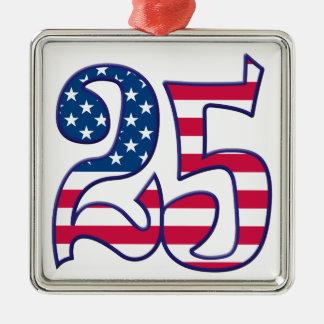 25 Age USA Silver-Colored Square Decoration