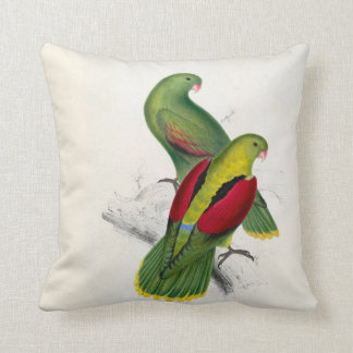 #25-Crimson-winged parrakeet pair Cushion