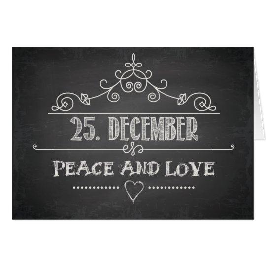 25. December Peace & Love Card