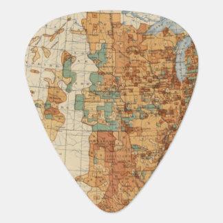 25 Density of increase of population, US, 18901900 Guitar Pick