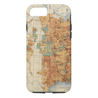 25 Density of increase of population, US, 18901900 iPhone 8/7 Case