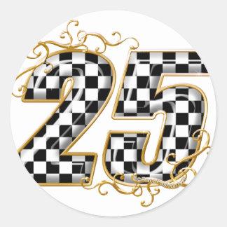 25 gold.png round sticker