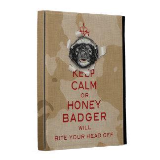 [25] Keep Calm or Honey Badger… iPad Case