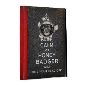 [25] Keep Calm or Honey Badger… iPad Folio Cover