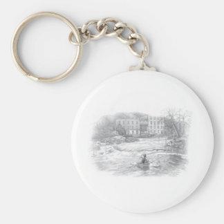 25. Llangollen 1 Basic Round Button Key Ring