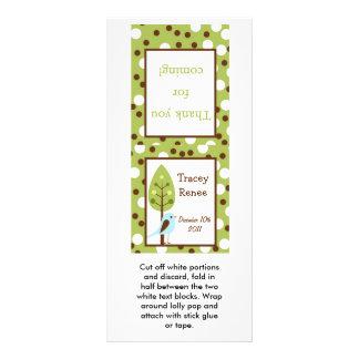 25 Lollipop Topper Woodland Friends Bird Rack Card Design