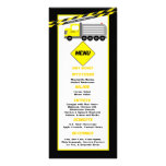 25 Menu Cards Construction Personalized Rack Card