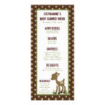 25 Menu Cards Enchanted Hollow Forest Woodland Full Color Rack Card