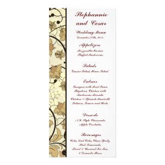25 Menu Cards Fall Floral/Branches nature autumn 10 Cm X 23 Cm Rack Card