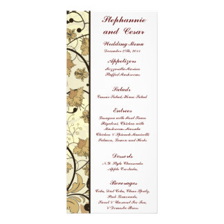 25 Menu Cards Fall Floral/Branches nature autumn Custom Rack Cards
