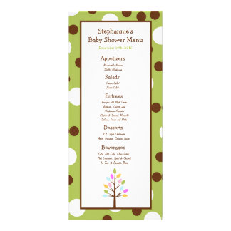 25 Menu Cards Woodland Friends Tree Personalized Rack Card