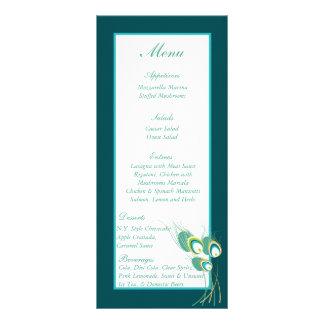 25 Modern Teal Peacock Wedding Menu Tags