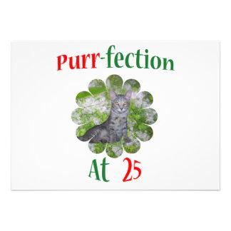 25 Purr-fection Invitation