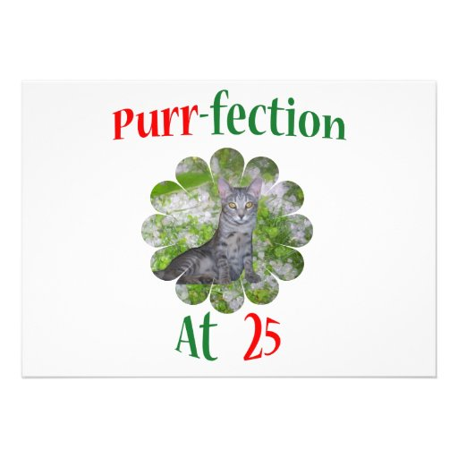 25 Purr-fection Invitation