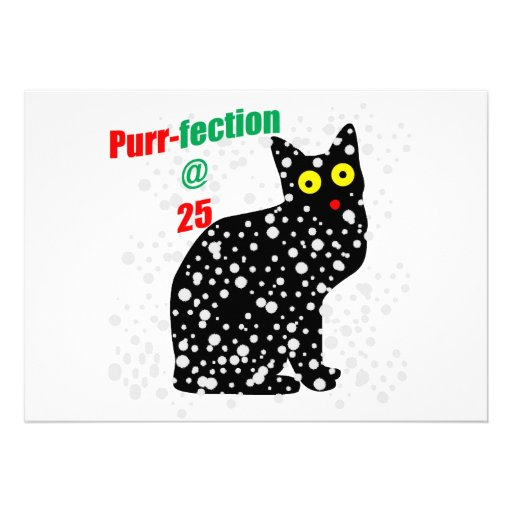 25 Snow Cat Purr-fection Custom Invites