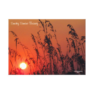 """25"""" x 18"""" Canvas Smoky Sunset Beauty"""
