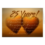 25 Year Anniversary Heart Card