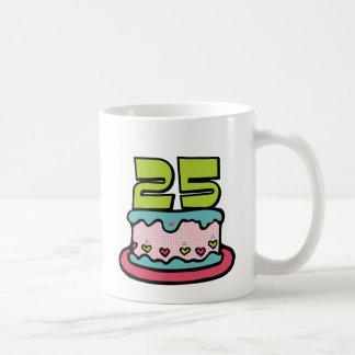 25 Year Old Birthday Cake Coffee Mug