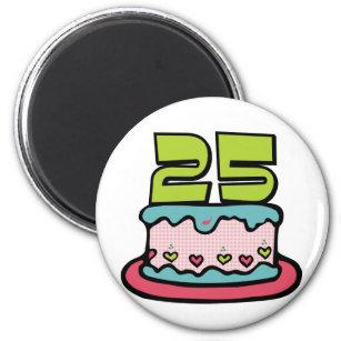 25 Year Old Birthday Cake Magnet